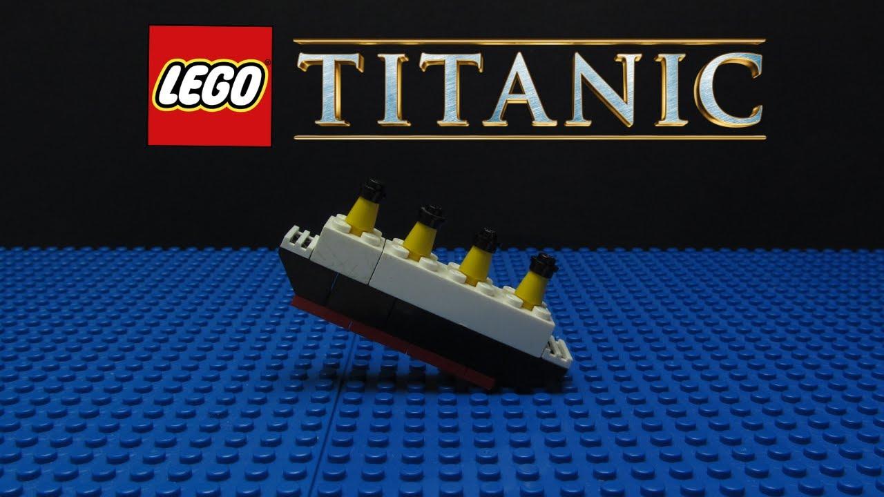 lego titanic sinking  stop motion