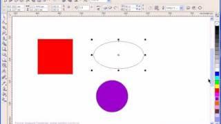 Окружность и прямоугольник Corel Draw