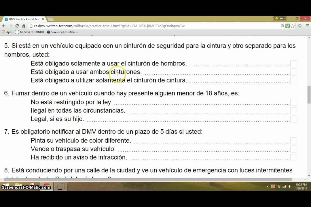 Licencia De Conducir: Examen Escrito Para Licencia De Conducir En Calif. Facil