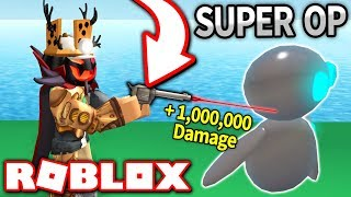 I BOUGHT THE MOST OP WEAPON in ROBOT SIMULATOR!! *1,000,000+ DAMAGE!* (Roblox)