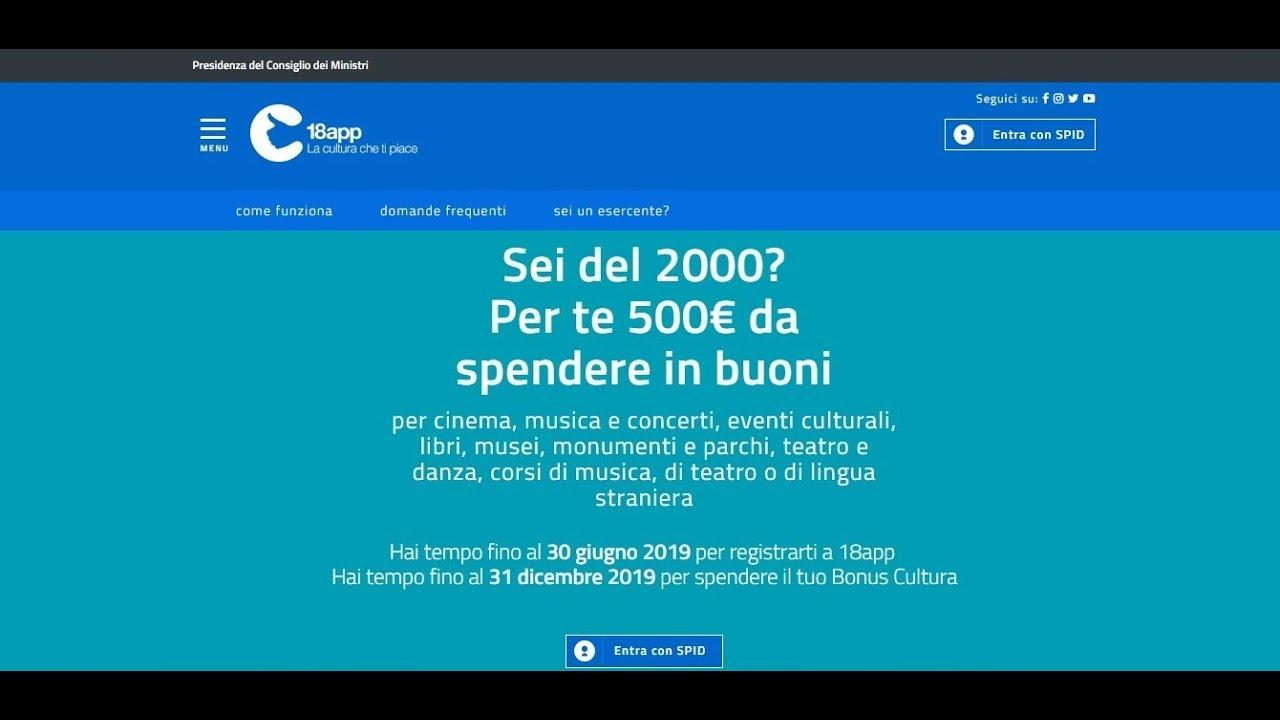 Ai nati nel 1999 bonus cultura di 500 euro: cosa è stato ...