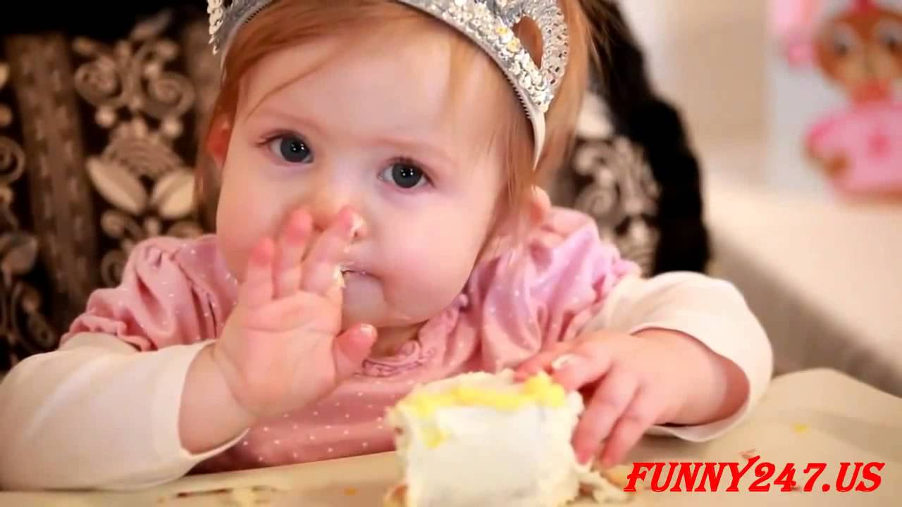 Babies Eating Birthday Cake 1st Birthday Funny Child Channel