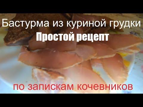 Бастурма из куриной грудки Простой рецепт по запискам кочевников