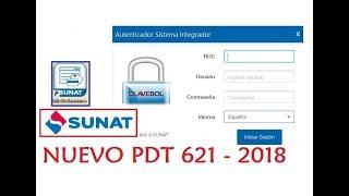 Nuevo Formulario Virtual 621 - PC SUNAT 2018 - Tutorial de descarga
