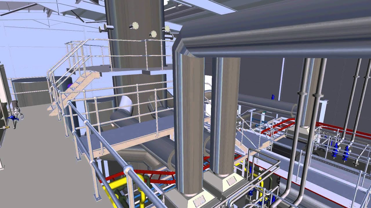 Torishima Thermal Hydrolysis Plant THP Crossness Boilerhouse 3D