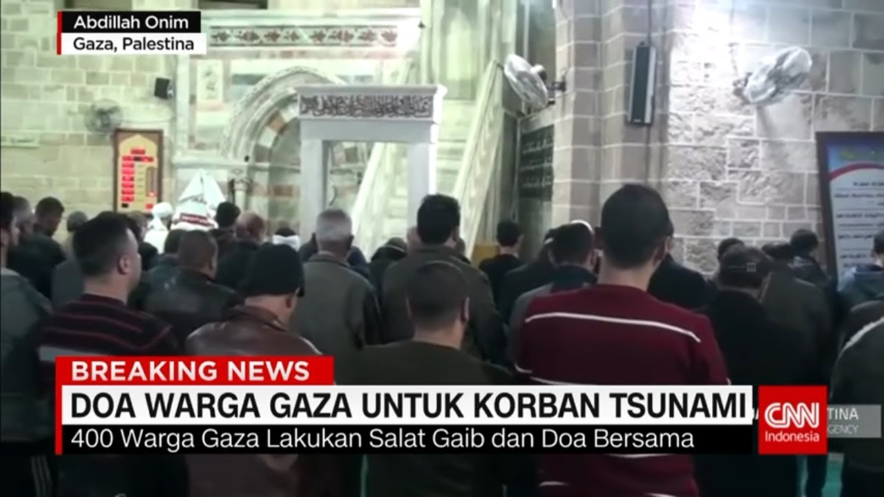 Warga Gaza Gelar Salat Gaib untuk Korban Tsunami Selat Sunda