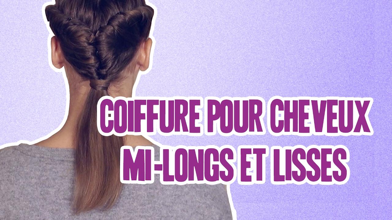 Comment se coiffer pour cheveux mi long