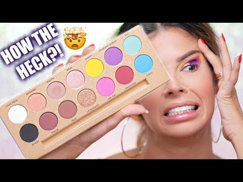 I TRIED USING EVERY EYESHADOW IN THE PALETTE CHALLENGE | LIFES A DRAG