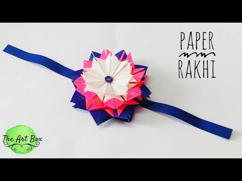 Eco-Friendly RAKHI | How to make RAKHI with paper | Rakhi DIY | Origami Rakhi | handmade rakhi