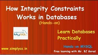 Integrity Constraints in Databases - NOT NULL, UNIQUE, DEFAULT, CHECK, PRIMARY KEY