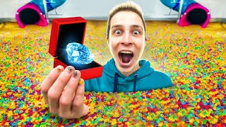 Hiding $100,000 DIAMOND In 100 MILLION ORBEEZ!