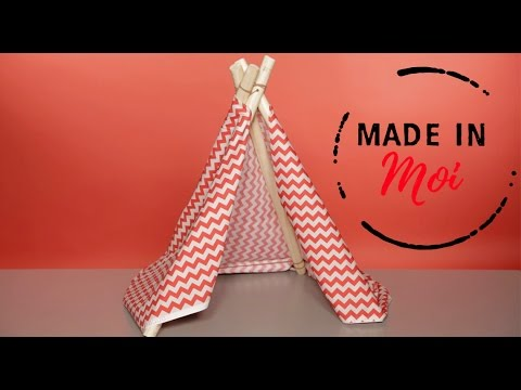 made in moi comment fabriquer un tipi pour chat youtube. Black Bedroom Furniture Sets. Home Design Ideas