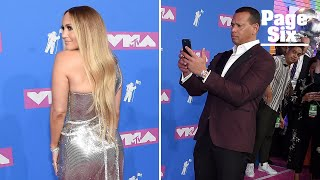 """A-rod is j.lo's """"instagram husband."""" at the 2018 vmas, alex rodriguez snapped pics of jennifer lopez from sidelines, as she received this year's michael ..."""