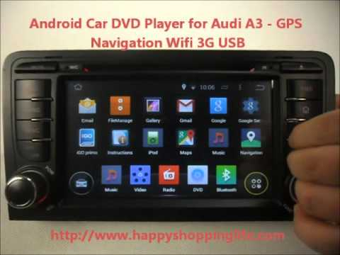 android auto dvd system for audi a3 2003 2013 car gps radio bluetooth wifi 3g internet youtube. Black Bedroom Furniture Sets. Home Design Ideas