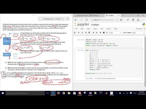 Simulate Differential Equations with Python ODEINT - YouTube
