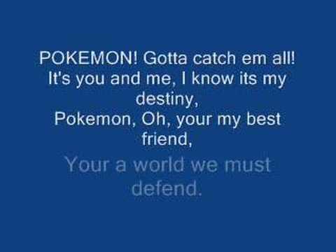 Pokemon opening 1 lyrics