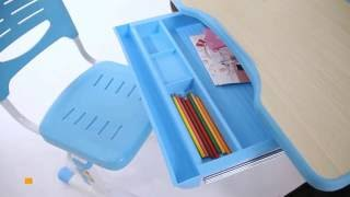 Парта для школьника Cura(Парта и стул-трансформеры FunDesk Cura Pink ― эргономичный, компактный, регулируемый по высоте, с ортопедическим..., 2016-10-17T15:13:56.000Z)