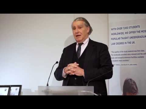Annual Law Lecture 2017 - Sir Nicholas Forwood QC