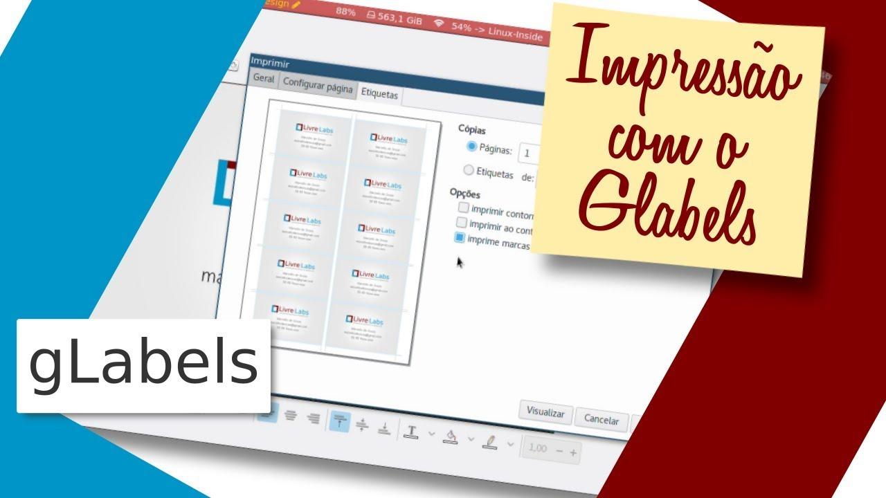 Como imprimir etiquetas e cartões no Linux com o Glabels