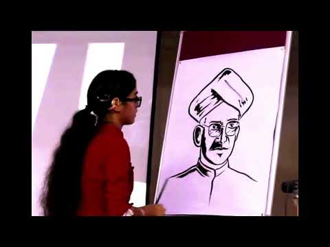 ON-STAGE PAINTING(LIVE) of Dr. S. RADHAKRISHNAN in LESS THAN 5 MINUTES