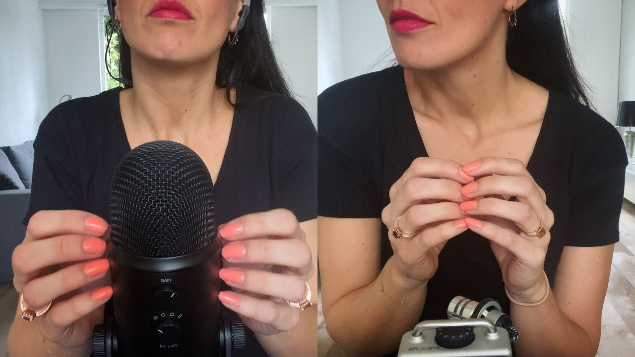 ASMR Battle - Nail Tapping, Finger Flutters & Mic Tapping - Blue Yeti VS Zoom - No Talking