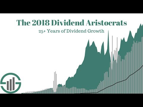 The 2018 Dividend Aristocrats: 25+ Years of Rising Dividends
