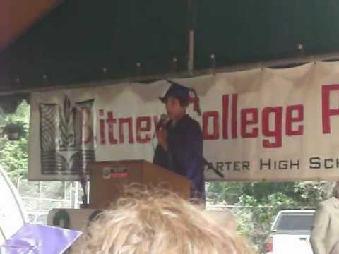 Matt Graduation Speech (or Look out Ron Paul)