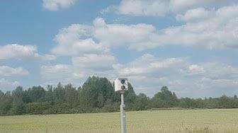 Sipoossa peltipoliisi kuvaa peltoa