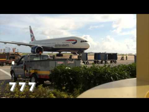 Aircraft Line-up at Grantley Adams Airport Barbados