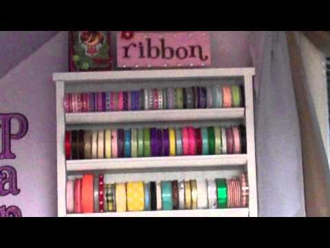 """Thrifty Crafter Tip #7 """"Make your own ribbon rack!"""""""