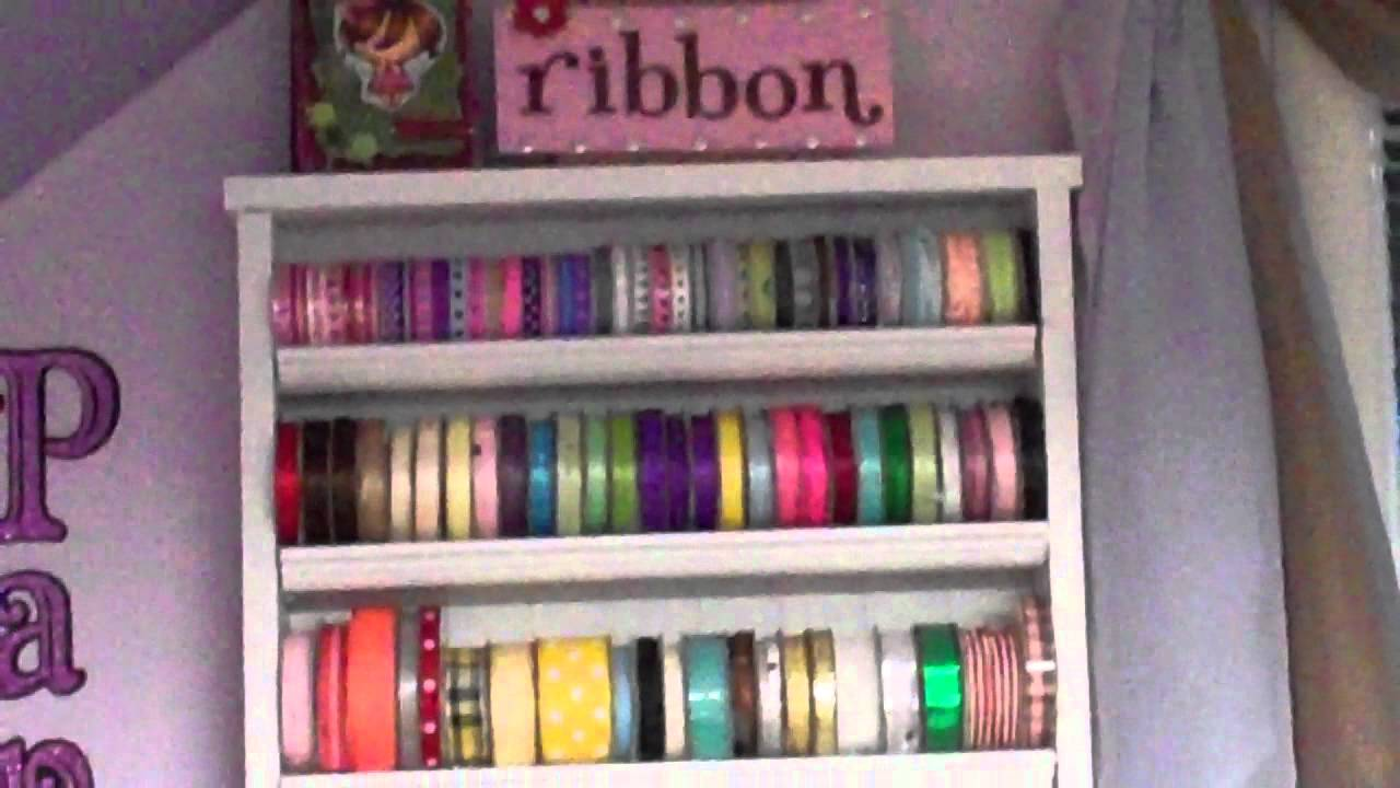 Thrifty crafter tip 7 make your own ribbon rack youtube thrifty crafter tip 7 make your own ribbon rack solutioingenieria Image collections