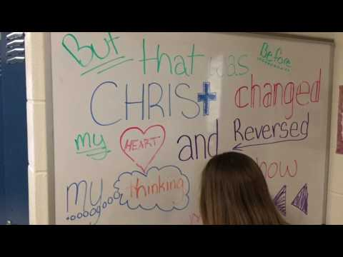 Annapolis Area Christian School Middle School Poem In Reverse