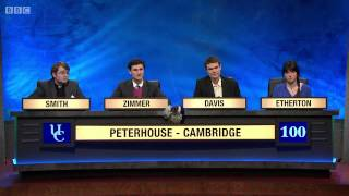 University Challenge S43E21 - Trinity Cambridge  vs  Peterhouse Cambridge