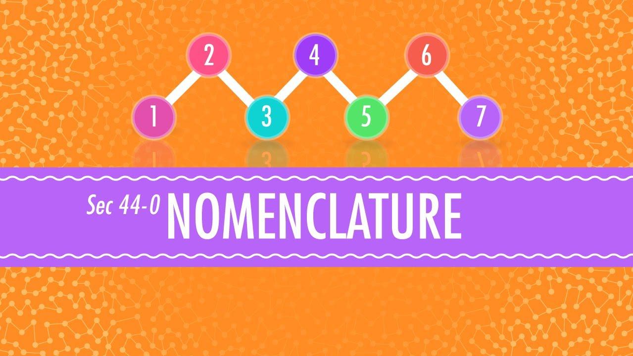 medium resolution of Nomenclature: Crash Course Chemistry #44 - YouTube