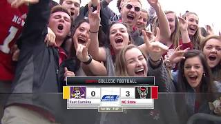 2018.12.01 East Carolina Pirates at NC State Wolfpack Football