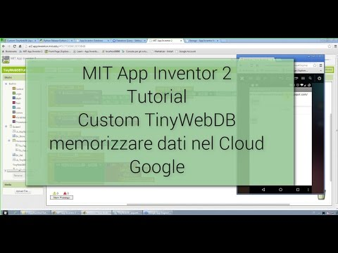 Tutorial - MIT App Inventor 2 - Creare Custom TinyWebDB Per Salvare Dati Nel Cloud