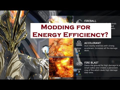 Warframe - How to Mod Your Warframe for the Best Energy Efficiency Possible
