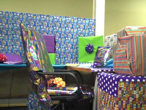 Epic office birthday prank youtube for 50th birthday decoration ideas for office