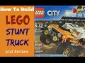 How To Build LEGO City Stunt Truck (Item 60146) and Review