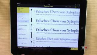 "Test iPad App ""FONT BOOK"""