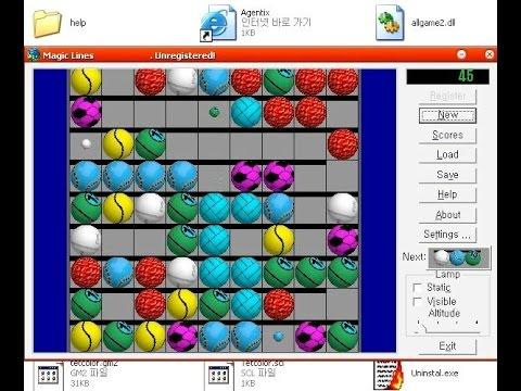 Magic Games : Magic Lines (Windows game 2000) - YouTube