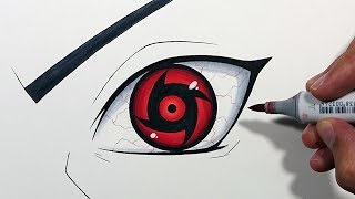 How To Draw Shisui Uchiha's Mangekyou Sharingan! - Step By Step Tutorial