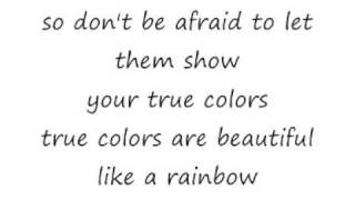 Cyndi Lauper True Colours Lyrics