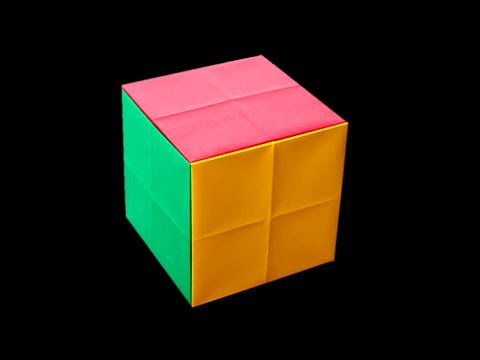 How to Make Paper Cube Very Easy Way !!! Paper Cube tutorial