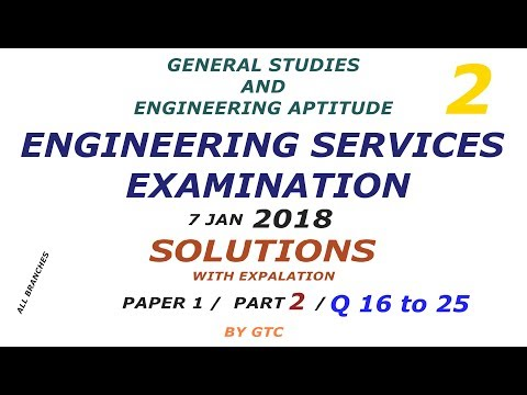 Engineering Services Examination 2018 Solution #2 ( Paper 1 GS )