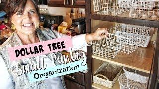 Dollar Tree Small Pantry Organization!!