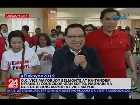 QC Vice Mayor Belmonte at  Councilor Gian Sotto, naghain na ng COC bilang Mayor at Vice Mayor