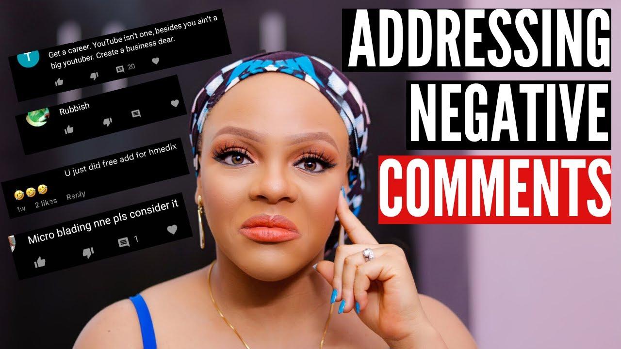 ADDRESSING NEGATIVE COMMENTS..... | ALMA NGUR