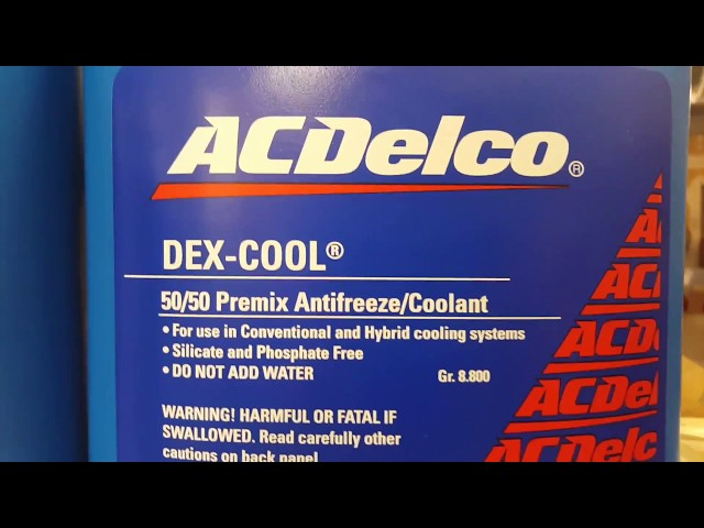AC Delco 10-5027: 50/50 Dex-Cool - 1 Gallon Bottle Details