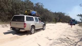 Fraser Island 2017//got Bogged//part 1//video. 2